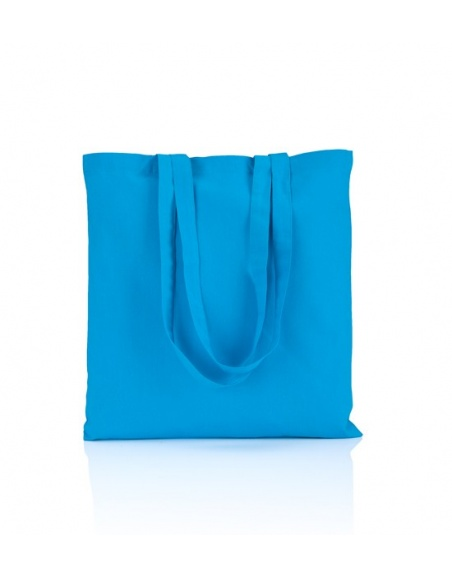 Cotton bag sky blue 140 gsm...