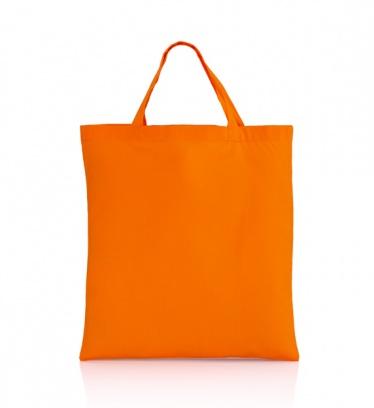 Cotton bag orange 140 gsm...